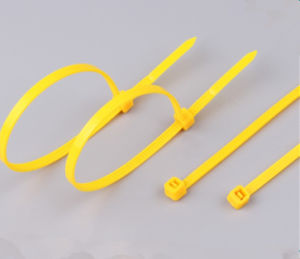 Yellow High Grade 5*380 Mm Plastic Cable Ties pictures & photos
