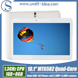 3G Calling 10.1 Inch Mtk6582 Quad Core 1GB RAM China Tablets (PMQ1035T)