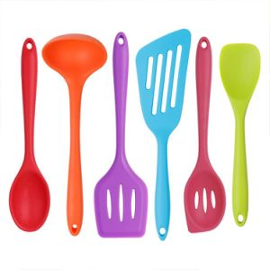 Multicolour Silicone Cooking Set 6 Pieces Heat Resistant Kitchen Utensils Tools And Gadgets Collection