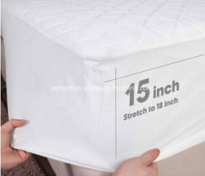 Hot Selling Hotel Snow White Mattress Protector pictures & photos