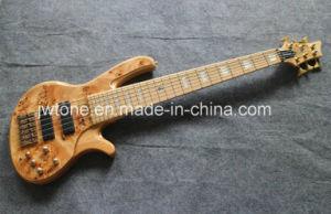 Burl Body Top Active Pickups Quality Electric Bass Guitar