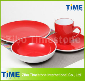 Wholesale Stoneware Two Color Home Goods Dinnerware pictures & photos