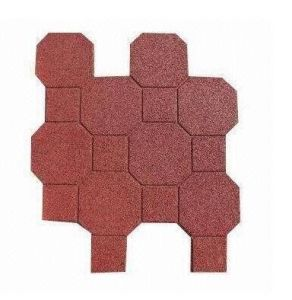 Colorful Different Shape Recycled Rubber Tile