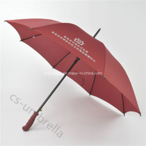 "27""Claret-Red Promotion Advertising Outdoor Fashionable Umbrella (YSS0107)"