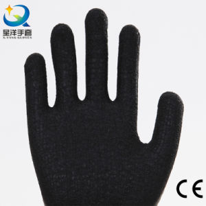 Acrylic Napping Lining Latex Coated Safety Glove L027 pictures & photos