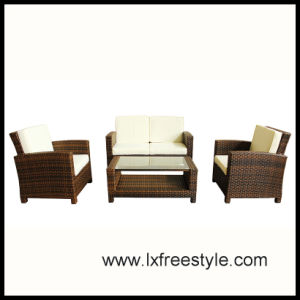 UV Resistand Wicker Sofa Set / SGS Wicker Furniture (SF-012)