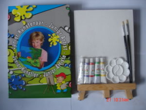 Painting Set, Painting, Stretched Canvas with Artist Brush pictures & photos