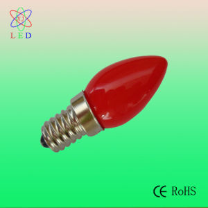 LED C7 Candle Bulb Opaque Red Cover pictures & photos