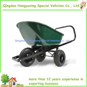 Garden Utility Wagon Lawn Cart Wheelbarrow With 3 Wheels