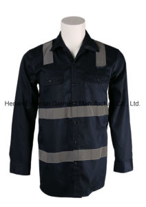 Oil and Gas Field Work Shirt Hi Vis Flame Resistant Industrial Shirt pictures & photos