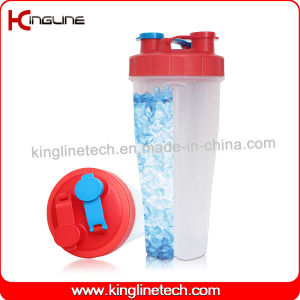 800ml plastic double separated shaker bottle BPA free(KL-7015B) pictures & photos