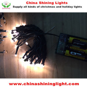 Warm White Green Wire 4m LED Battery Lights