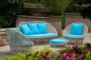 Outdoor Wicker Furniture Set / Garden Rattan Sofa Set (BZ-SF083)
