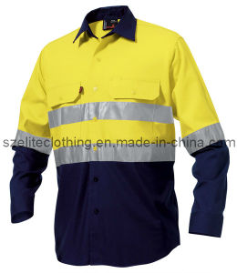 Fluorescent Safety High Visibility Clothing for Men (ELTHVJ-18) pictures & photos