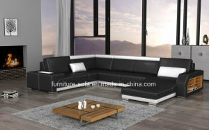 High Grade Office Furniture Italy Leather Sofa with Lockers (SF105B)