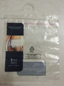 LDPE Printed Adhesive Bags with Hanger for Underwear (FLH-8710)