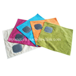 Microfiber Cleaning Cloth with Scouring Pad pictures & photos