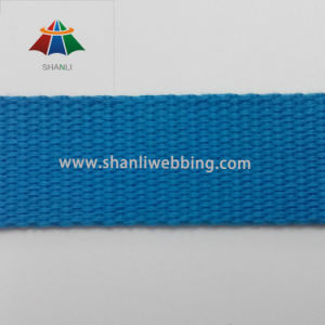 "1"" Blue Polyester Cotton Flat Webbing"