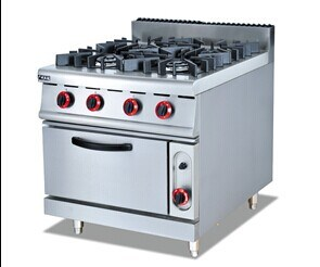 Gas Range with 4-Burner and Oven (GH-987A) pictures & photos