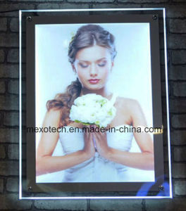 Ultra Thin Wall Mounted Acrylic Crystal LED Light Box pictures & photos
