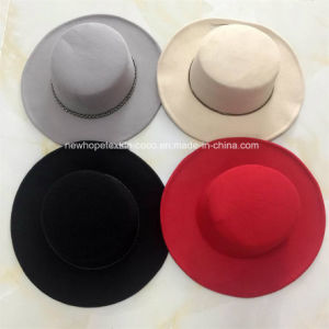 Fashion Fake Wool Falt-Top Hat