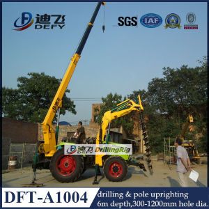 Tractor Mechanical Pole Digger 6m Depth pictures & photos