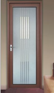 Double Architrave/Flange Aluminium Frosted Glass Bathroom Door & China Double Architrave/Flange Aluminium Frosted Glass Bathroom Door ...