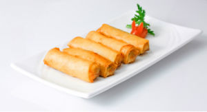 IQF Frozen 100% Hand Made Vegetable 50g/piece Cylinder Spring Rolls