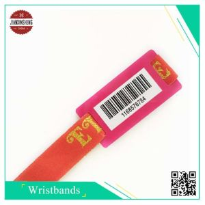 Bar Code Fabric Wristband with Printing Barcode pictures & photos
