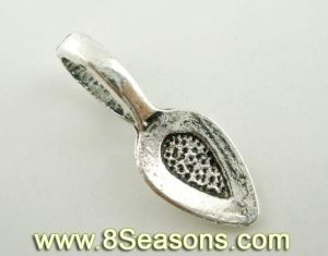 Silver Tone Glue on Bail 21x8mm (B03547)