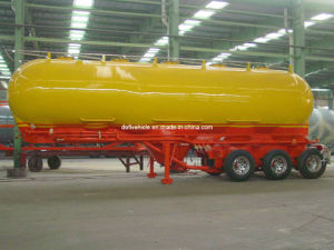 Bulk Power Tanker Trailer with Three Axles and Single Tire