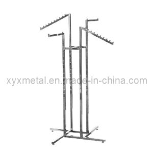 Four Slant Arms Way Chrome Metal Cloth Clothes Clothing Grament Rack pictures & photos