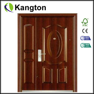 china commercial residential double leaf steel door price steel