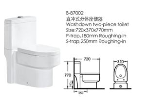 Hot Sales Sanitary Ware Washdown Bathroom Toilet (87002) pictures & photos