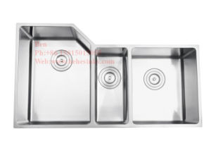 Stainless Steel Under Mount Triple Bowl Handmade Kitchen Sink pictures & photos