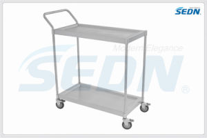 Handmade Commercial Stainless Steel Two Tier Trolley (CZ005) pictures & photos