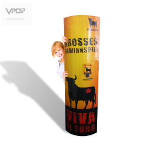 Oval Tube 2-Sided Standee for Advertising