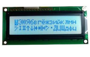 DOT-Matrix LCD Module, 16 X 2 Characters, White Backlight