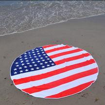 Printed Beach Towel in Round pictures & photos