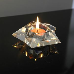 Fashionable Nice Square Crystal Glass Candle Holder pictures & photos