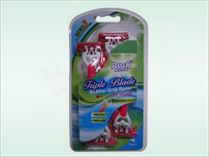 Triple Blade Disposable Razor (KD-B3028L) pictures & photos