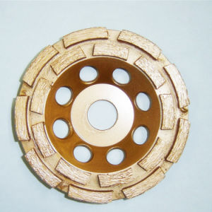 Diamond Double Rows Cup Wheel for Polishing Stones pictures & photos