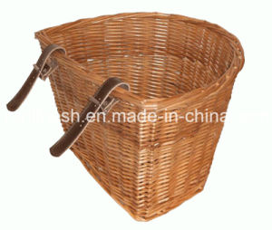 Common Use Medium Wicker/Willow Basket for Classic Pedelec/Electric Bike/E Bike/Bicycle pictures & photos