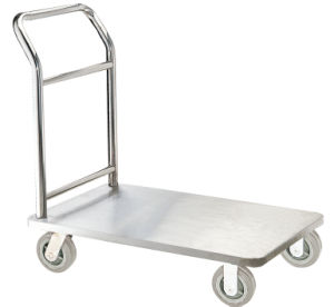 Stainless Steel Slip-Resistant Hand Truck for Hotel Lobby (XL-10) pictures & photos