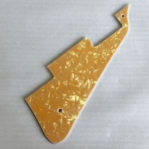 3ply Gold Pearloid Lp Pickguard for Les Paul Guitar pictures & photos