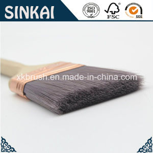 High Class Tapered Filament Angled Paint Brushes pictures & photos