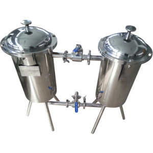 Industrial Use Duplex Filter for Milk/Juice/Yogurt/Tea Beverage pictures & photos