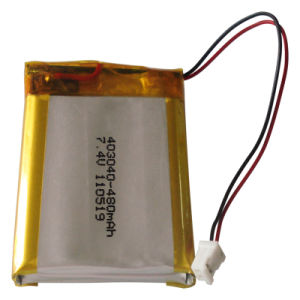 7.4V Lithium Polymer Rechargeable Battery Pack Pl403040 (480mAh)