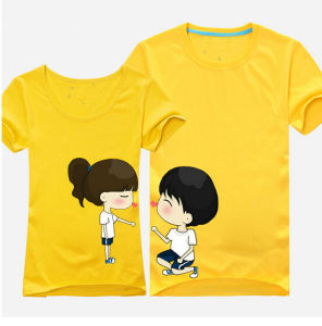 Newest Fashion Couple T Shirt Printing pictures & photos