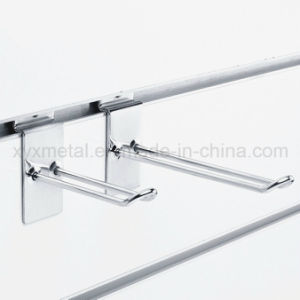 Store Slatwall Panels Accessories Chrome Plated Steel Loop Display Hooks pictures & photos